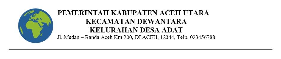 Contoh kop surat resmi instansi pemerintah